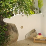 Trade Winds outdoor shower